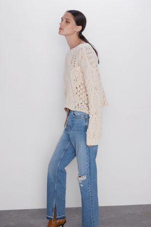 Zara Kvinna High waist - Raka jeans z1975 med hög midja