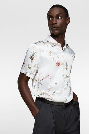 Zara Satängskjorta med blommönster