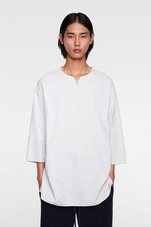 Zara Rustisk skjorta lös passform