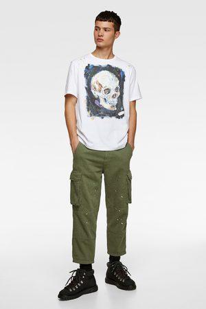 Zara T-shirt med dödskalle