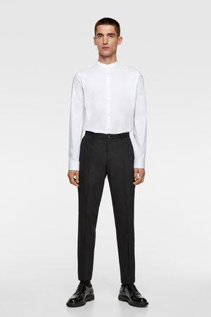 Zara Stretchskjorta med maokrage