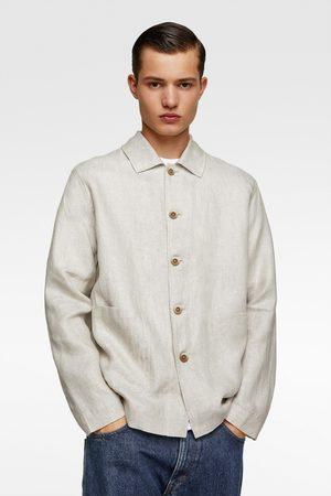 Zara överskjorta i linne