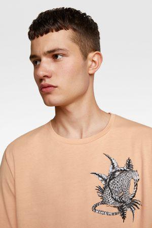 Zara Kombinerad t-shirt med brodyr