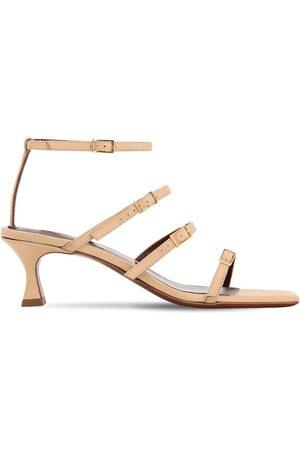 MANU Kvinna Sandaler - 50mm Leather Sandals