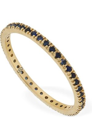 VANZI Kvinna Ringar - Annagreta Thin 18kt Gold & Sapphire Ring
