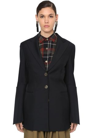 Loewe Cool Wool Blazer W/ Flared Sleeves