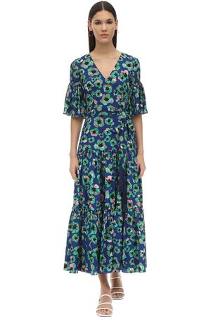 Borgo De Nor Teodora Floral Print Techno Crepe Dress