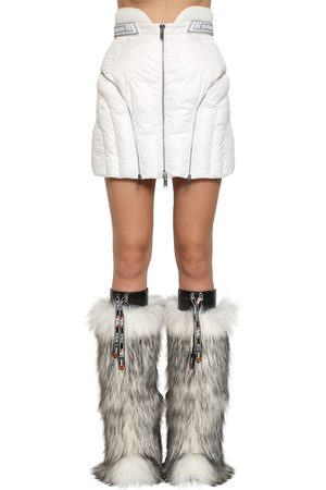 Byblos Kvinna Minikjolar - Quilted Nylon Mini Skirt