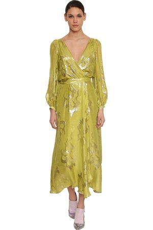 TEMPERLEY LONDON Kvinna Midiklänningar - Silk Blend Wrap Midi Dress