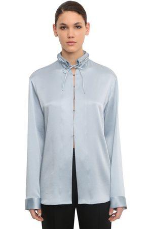 Haider Ackermann Kvinna Skjortor - Braided Collar Viscose Blend Shirt