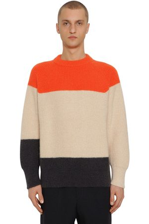 Jil Sander Man Stickade tröjor - Striped Mohair & Wool Knit Sweater