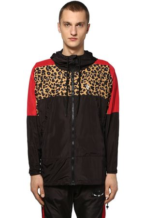 MARCELO BURLON Man Jackor - Hooded Zip-up Tech Windbreaker