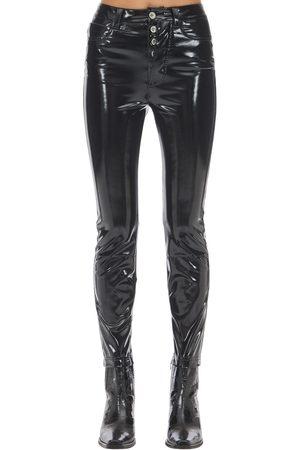 UNRAVEL Kvinna Slim & Skinny byxor - Zipped Vinyl Skinny Leg Pants