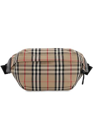 Burberry Man Bälten - Check Cotton Blend Sonny Belt Bag
