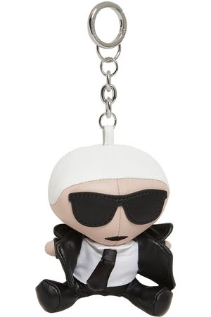 Karl Lagerfeld Iconic Leather Doll Key Chain