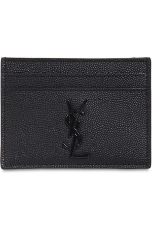 Saint Laurent Logo Leather Grain Card Holder