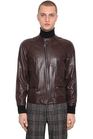 Dolce & Gabbana Man Skinnjackor - Plongé Leather Blouson Jacket