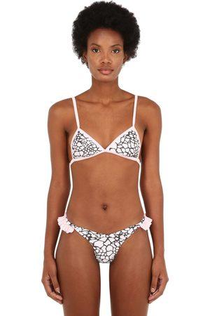 JUST SAUCED Kvinna Bikinis - Mimi Leopard Print Bikini Top
