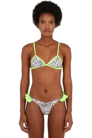 JUST SAUCED Kvinna Bikinis - Mimi Leopard Printed Bikini Top
