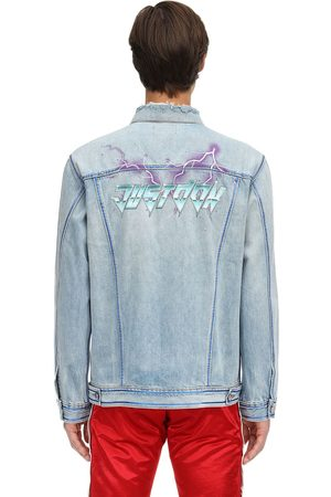 JUST DON Printed Cotton Denim Jacket