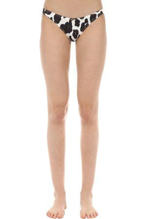 Solid Leopard Printed Bikini Briefs