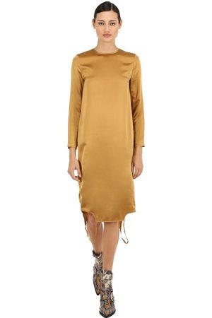 MARQUES'ALMEIDA Twisted Silk Satin Dress