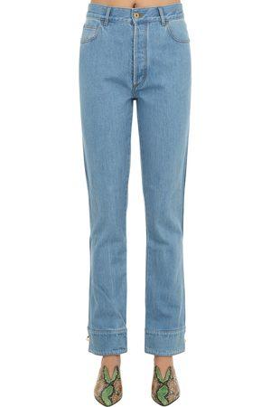 MARQUES'ALMEIDA Kvinna Jeans - Cuffed Cotton Denim Jeans