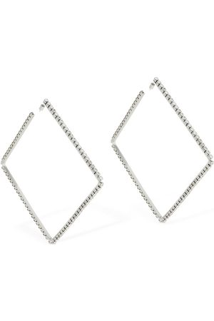 "AREA Large 4"" Classic Square Hoop Earrings"