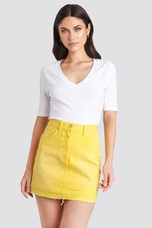 NA-KD High Waist Denim Mini Skirt