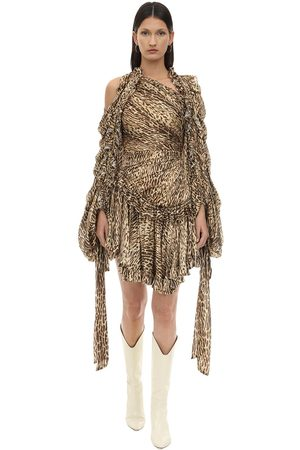 ZIMMERMANN Kvinna Mönstrade klänningar - Animal Print Crepe De Chine Mini Dress