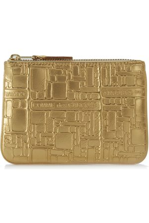 Comme des Garçons Wallet golden leather with pattern