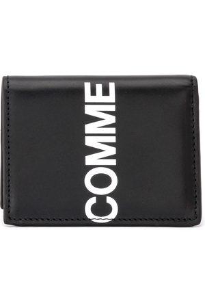 Comme des Garçons Portafogli Wallet Huge Logo in pelle nera