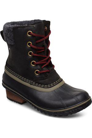 sorel Kvinna Ankelboots - Slimpack Lace Ii Felt Shoes Boots Ankle Boots Ankle Boots Flat Heel