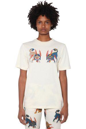 KIRIN Kvinna Front Printed Cotton Jersey T-shirt