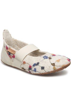 Bisgaard Home Shoe - Wool Ballet Ballerinaskor Ballerinas Creme