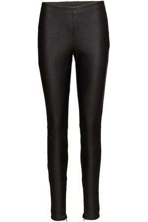 Saint Tropez Kvinna Leggings - Faux Leather Leggings Leather Leggings/Byxor