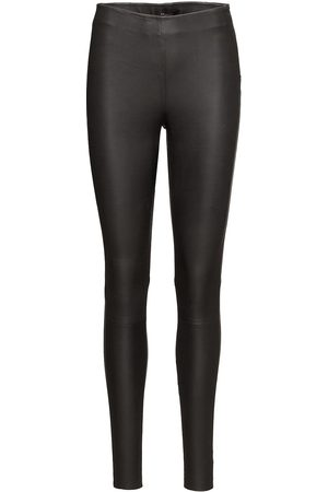 Selected Slfsylvia Mw Stretch Leather Leggin Noos Leather Leggings/Byxor