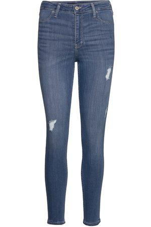 Hollister Kvinna Skinny - Jeans Skinny Jeans Blå