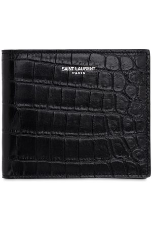 Saint Laurent Eastwest Embossed Leather Wallet