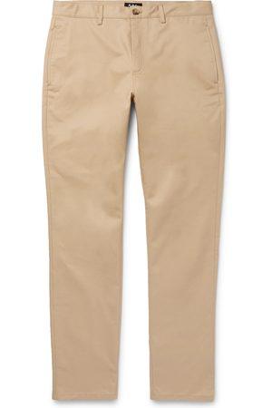 A.P.C Man Chinos - Navy Classic Cotton-gabardine Chinos