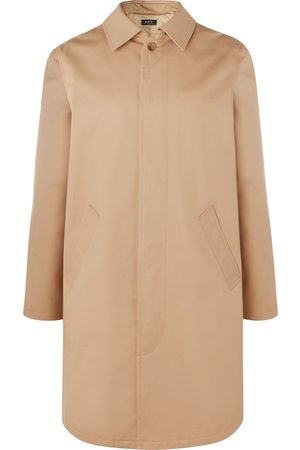 A.P.C Man Trenchcoats - Cotton-twill Trench Coat