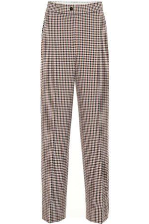 Tory Burch High-rise plaid pants