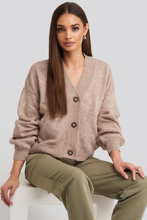 NA-KD Short Button Front Cardigan - Koftor & Cardigans - Rosa - Small