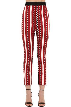 Haider Ackermann High Waist Striped Jacquard Pants