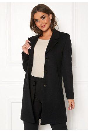 Selected Kvinna Vinterkappor - Sasja Wool Coat Black 36