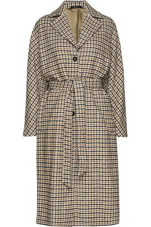 Morris Lady Maebel Checked Coat Trench Coat Rock Brun
