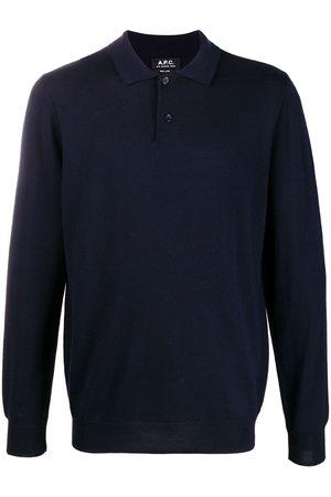 A.P.C Stickad tröja med pikékrage