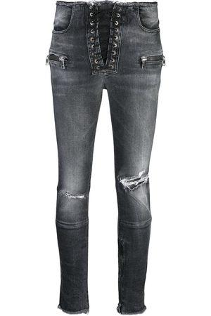 Unravel Project Skinny-jeans med slitning