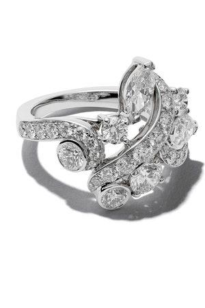 De Beers Adonis Rose klusterring med diamant och 18K vitt guld