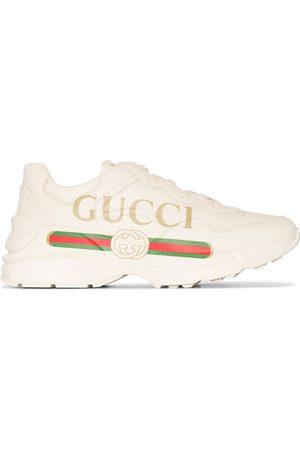 Gucci Rhyton lädersneakers med logotyp